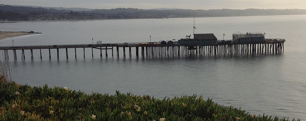 Capitola Village and Wharf from Jewel Box